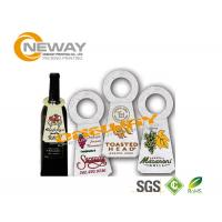 Buy cheap Printed Coated Paper Garment Wine Bottle Hang Tags Full Color from wholesalers
