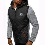 Buy cheap Hoody Spliced Jacket Salomon Print Men Hoodies Sweatshirts Casual Coat Hooded Zip Cardigan Plus Fleece Clothes from wholesalers