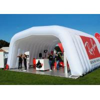 Buy cheap 8x9m white trade show inflatable music tent with custom logo printed outside from wholesalers