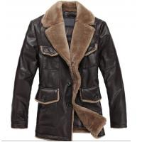 Buy cheap Sheep Skin Lamb Collar Jacket - Genuine Leather Coat from wholesalers