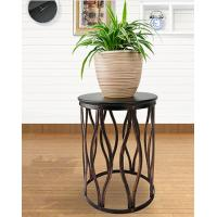 Buy cheap Living Room Furniture Metal Round Coffee Table Side Table   Round Metal End Table from wholesalers