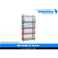 Buy cheap 5 Tiers Colorful Stackable Wire Metal Shelving , Wire Storage Racks For Promotional Products from wholesalers