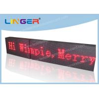 Buy cheap Portable LED Scrolling Message Sign High Brightness 384mm X 2048mm X 120mm from wholesalers