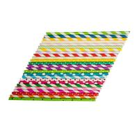 Buy cheap Oil Resistant Colored Paper Straws , Retro Paper Straws Beautifully Printed Appearance from wholesalers