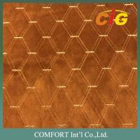 Buy cheap 100% Polyester Plain Embossed Embroidery Velvet Fabric for Sofa / Car / from wholesalers