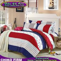 Buy cheap Dot and Stripes Designs Colorful Bedsheet Pillowcases Duvet Cover Sets from wholesalers
