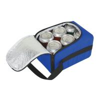 Buy cheap Deluxe Six Pack Cooler Bag with Dual Zipper Closure product