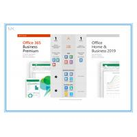 China Online Activation Microsoft Office 2019 Vision Home And Business Key Card English on sale
