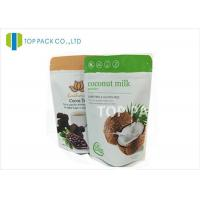Buy cheap Zip Lock Reusable eco friendly stand up pouches for Coconut from wholesalers
