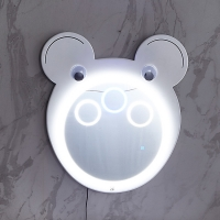 Buy cheap Three-Color LED Bathroom 4mm Smart Cartoon Shape Makeup Mirror from wholesalers