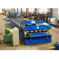Buy cheap Galvanized Step Glazed Tile Roll Forming Machine Electric Motor 0.40-0.70 mm Sheet Thickness product