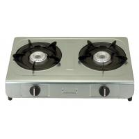 Table Top Electric Ignition Gas Stove With 2 Burner Stainless Steel Panel