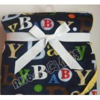 Buy cheap letter printed short plush blanket from wholesalers