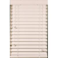Buy cheap 50mm pvc foamwood venetian blinds with steel headrail and pvc foamwood bottomrail from wholesalers