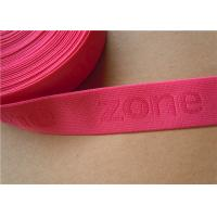 Buy cheap 38mm Custom Woven Ribbon Trim Underwear Elastic Band Embroidered from wholesalers