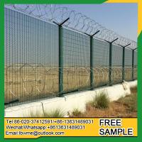 Buy cheap Marquette Prevent attack 358 security weld wire fence panels with razor barbed wire on top from wholesalers