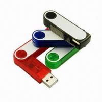 Buy cheap Custom Cheap Swivel Promotional USB Disks with Branded Chipset, Up to 64GB Hot Selling Flash Memory from wholesalers