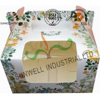 China Recycled White Cardboard Cake Packaging Boxes With Lids Full CMYK Printing on sale