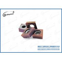Buy cheap Brown CVD coating Tungsten Carbide Inserts for Cast Iron and Mild Steel from wholesalers