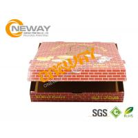 Buy cheap Shipping Printed Pizza Boxes / Custom Printed Food Boxes With Handles from wholesalers