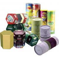 Buy cheap Cylinder Colorful Recyclable Paper Cans Packaging for Food Cosmetics and Matches from wholesalers