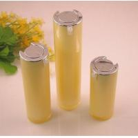 Buy cheap 15ml 30ml 50ml Yellow Round Acrylic Cosmetic Airless Bottles For Body Lotion Cream product