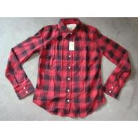 Buy cheap 20K pcs Abercrombie & Fitch plaid pattern girl's shirt inventory ,women's Fall's slim-fit casual Tops from wholesalers