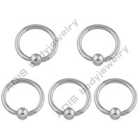 Buy cheap Customized Anodized Press Fit Stone BCR Ball Closure Ring G23 Titanium from wholesalers