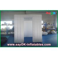 Buy cheap White 3D Sticker Foldable Inflatable Photo Booth Kiosk Enclosure With Window from wholesalers