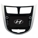 Buy cheap Hyundai Verna /Accent /Solaris 2011-2012 Android 10.0 Car DVD Multimedia Player Sat Nav GPS HYD-7202GDA from wholesalers