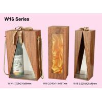 Buy cheap Customized Wooden Wine Box, Wine Packaging Boxes Wrapped With Woodgrained Paper from wholesalers