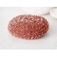Buy cheap Eco Friendly Pure Copper Dish Scrubber Mesh Shape For Hotel And Restaurant from wholesalers