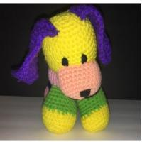 Buy cheap Homemade Granny Grandma Knit Dog Puppy Stuffed Animal Plush 11cm Pink Yellow Blue from wholesalers