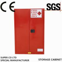 Buy cheap Iron Free Standing Lockable Chemical Storage Cabinets , Flammable Storage Locker from wholesalers