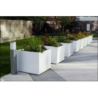 Buy cheap Factory direct sales light weight white fiber clay outdoor garden planter ,flower pot, and pottery from wholesalers