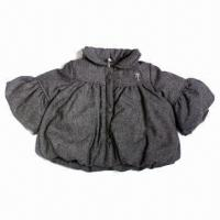 Buy cheap Lovely Little Girls' Coat, Made of 100% Cotton Fabric, for Winter Season from wholesalers