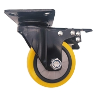 Buy cheap 4 5 Swivel Plate Industrial Casters with Brake from wholesalers