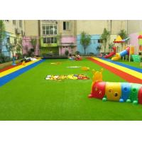 Buy cheap Dense Surface Silky Soft Monofilament PE + Curly PP Outdoor Artificial Grass , 5 - 8 Years Warranty product