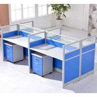 Buy cheap Cusomized Wooden Material 4 Seats Office Desk Cubicle Multi Color Easy To Install from wholesalers