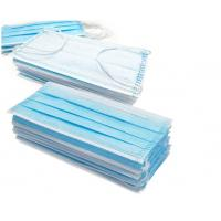 Buy cheap Blue 3 Layer Medical Face Mask High Filtration Efficiency With Ear Loop product