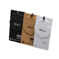 Buy cheap custom clothing accessories paper hang tag OEM factory with artwork printing from wholesalers