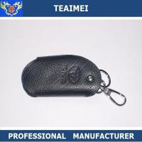 Buy cheap Customs Car Logo Black Leather Key Pouch Cover For Decoration from wholesalers
