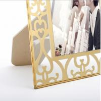 Buy cheap Vertically Stand Metal And Glass Photo Frame , A4 Glass Picture Frames from wholesalers
