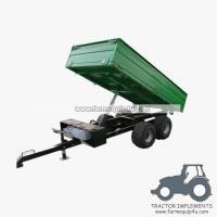 Buy cheap 3TR4WM - 4wheels small tractor trailer dump trailer with moto 3Ton from wholesalers