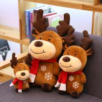 Buy cheap 3 Different Size Animated Plush Christmas Toys Smooth Warm Fabric Pp Cotton Stuff from wholesalers