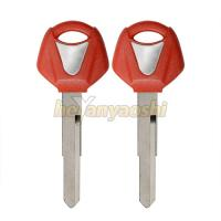 Buy cheap Plastic Brass Key Fob Shell For Motorcycle , Red Transponder Auto Key Shell product
