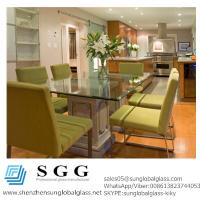 China Excellence quality dinning room bevelled edge table top glass on sale