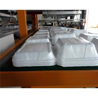 Buy cheap Styrofoam Automatic Vacuum Forming Cutting Stacking Integrated Machine For Food Container from wholesalers
