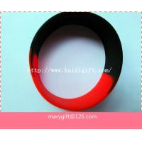 Buy cheap wide one inch segmented color blank silicone wristband bracelet from wholesalers