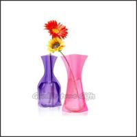 Buy cheap Promotional customed logo Eco Plastic fold desk portable flower vase home decor gift from wholesalers